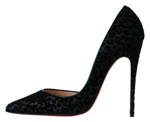 Christian Louboutin Iriza 120 Leopard Glitter So Kate 120 Iriza Black Pumps