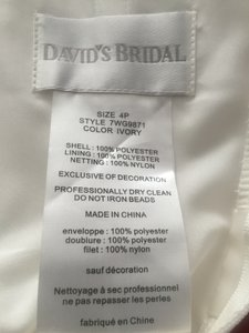 David's Bridal David's Bridal Fit And Flare Dress Wedding Dress