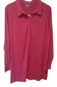 J. Jill Tunic Pleat Back New Top Pink