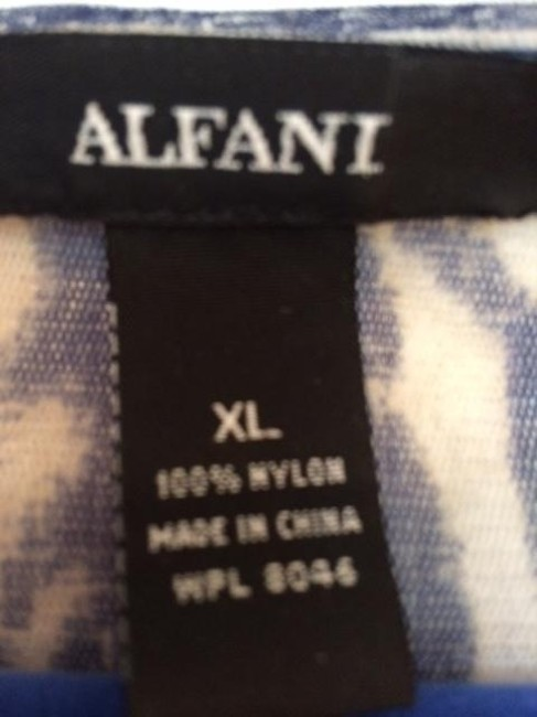 Alfani Xl Sheer Pullover Top blues