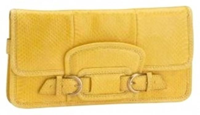 Item - Keaton Yellow Snake/Skin Clutch