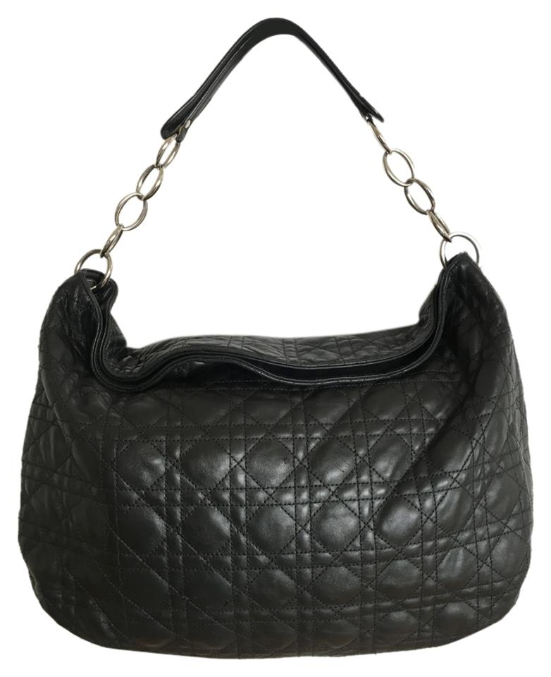 Dior Quilted Black Lambskin Leather Hobo Bag - Tradesy : dior quilted bag - Adamdwight.com