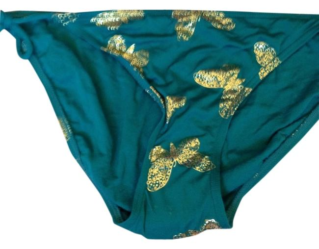 Juicy Couture 100% Authentic Juicy Couture Gold Butterfly String Bikini Y55405