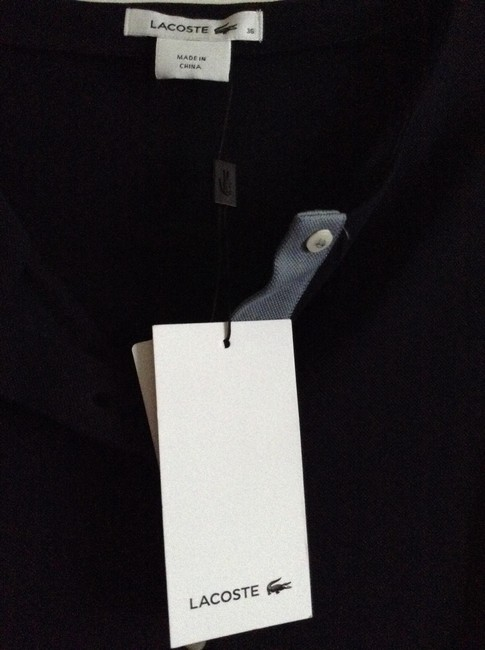 Lacoste New Unworn With Tag Attached High-low Sleeve Color Blocked Henley Length From Shoulder To Hem In Front: 24