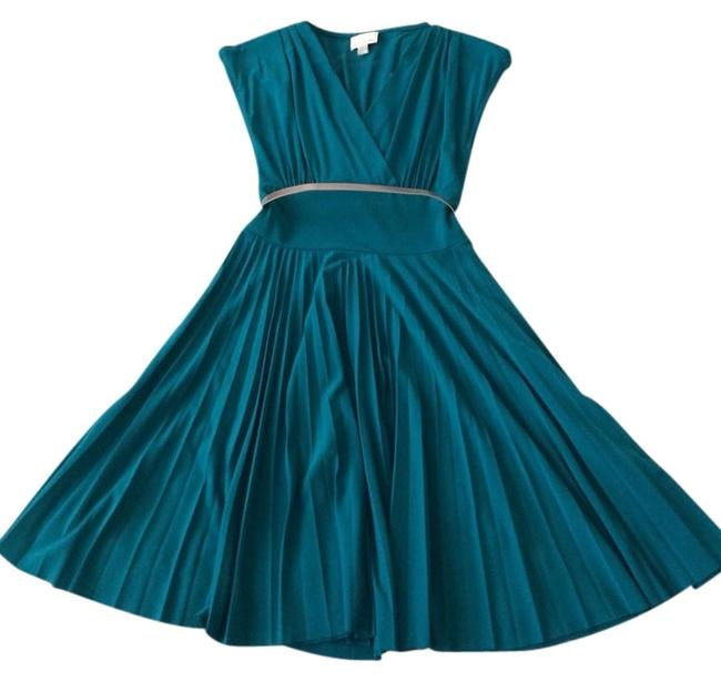 Preload https://img-static.tradesy.com/item/1046904/donna-morgan-teal-belted-above-knee-cocktail-dress-size-2-xs-0-0-650-650.jpg