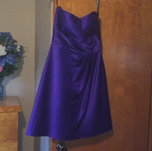 Bill Levkoff Purple Polyester Formal Bridesmaid/Mob Dress Size 6 (S)