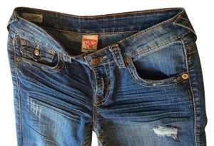 True Religion Straight Pants Faded Blue