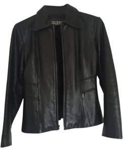 Guess Leather Leather Jacket