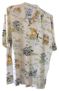 Guy Harvey Sportswear Button Down Shirt Cream