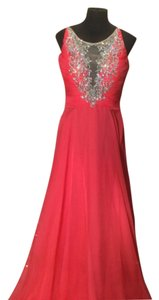 Rachel Allan Chiffon Beaded Dress