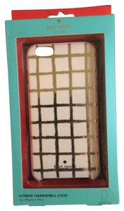 Kate Spade Kate Spade New York Gold Stripe iPhone 6 Plus Hybrid Hardshell Case