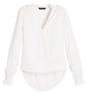 White House | Black Market Surplice Top White