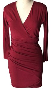 Carven short dress Bordeaux on Tradesy