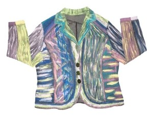 Denim Multi-Colored Womens Jean Jacket