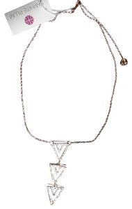 White Plum Triple Triangle Necklace