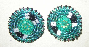 American Native Indian Hand Beaded Earrings Free Shipping