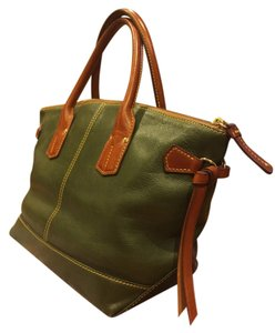 Dooney & Bourke Leather Tote in Olive Green
