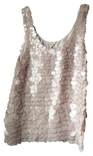Preload https://item2.tradesy.com/images/bone-white-fancy-blouse-with-clear-hanging-dials-all-hand-made-night-out-top-size-12-l-10471006-0-1.jpg?width=400&height=650