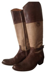 Frye Leather Brown and Tan Boots