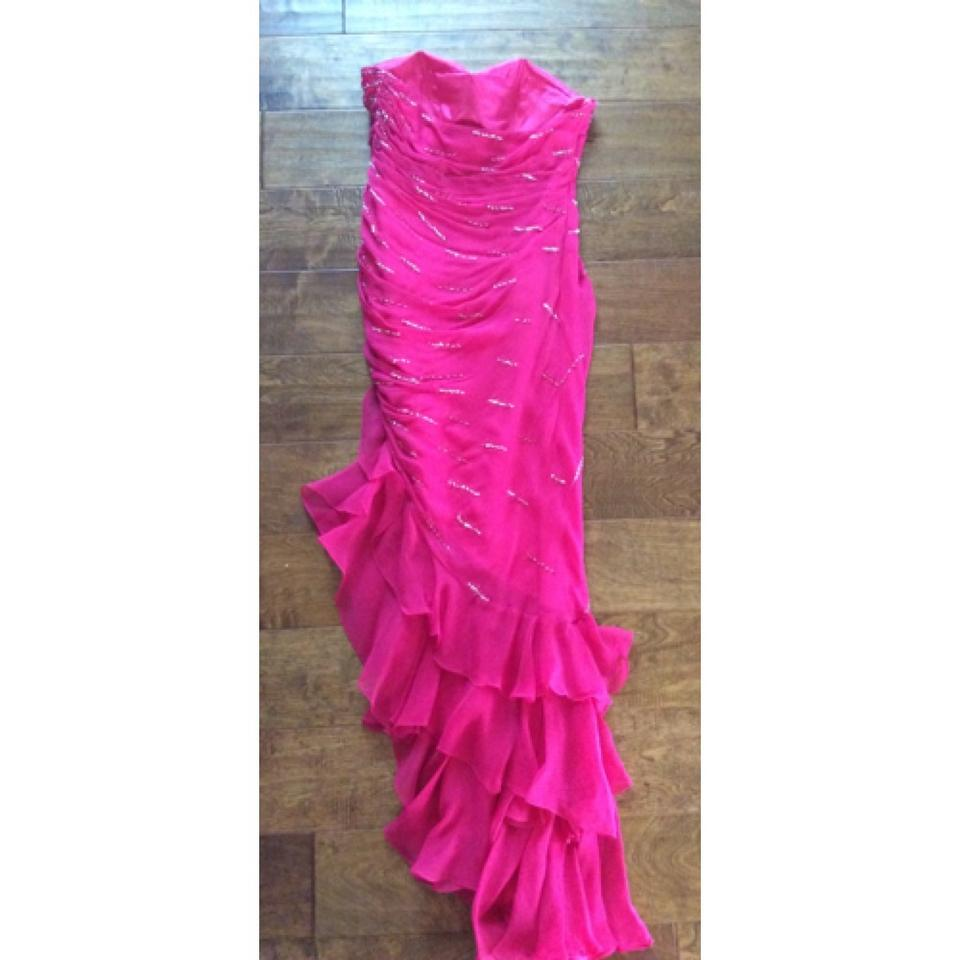 Xcite Prom Pink Embellished High-low Formal Dress Size 2 (XS) - Tradesy