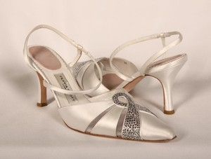 Filippa Scott Filippa Scott Amy White Satin Bridal Shoes Wedding Shoes