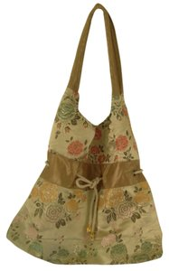 New fabric Tote in Gold silk tapestry