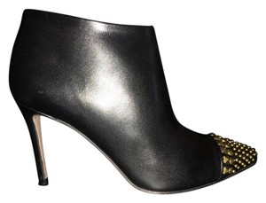 Gucci Studded Italian Black leather with golden metal studs Boots