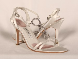 Filippa Scott Filippa Scott Isabella White Satin Bridal Shoes Wedding Shoes