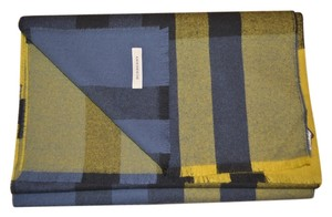 Burberry NWT BURBERRY UNISEX LARGE COLOUR BLOCK 100% WOOL CHECK SCARF WRAP