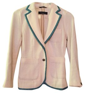 Rag & Bone Cream with blue/black piping Blazer