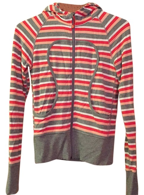 Item - Red/Gray/Pink Stripes Activewear Outerwear Size 4 (S, 27)