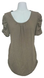 Style & Co Shirt Short Sleeve Top Brown