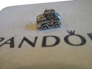 PANDORA Authentic retired Pandora 791221en20 Charm Bead Taxi Yellow Enamel Sterling Silver