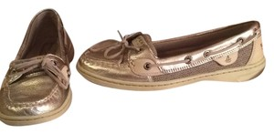 Sperry Metalic silver Flats