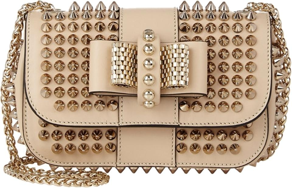 940f8cf0af6 Christian Louboutin Mini Sweet Charity Cream Leather Cross Body Bag 35% off  retail