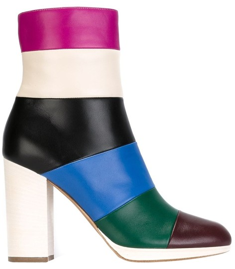 Preload https://img-static.tradesy.com/item/10473178/valentino-multicolor-new-sz375-colorblock-leather-ankle-bootsbooties-size-eu-375-approx-us-75-regula-0-1-540-540.jpg