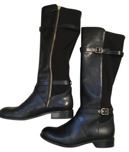 Cole Haan Gold Black Boots
