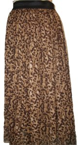 Vince Camuto Skirt Brown Animal Print