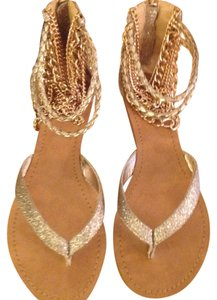 ZIGI NEW YORK Gold Sandals