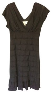 Max Studio short dress Black Nwt Ruffled on Tradesy