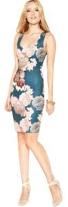 Bar III Bodycon Floral Above Knee Dress