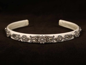 Homa Creations 160 Diamond White Headband Headpiece