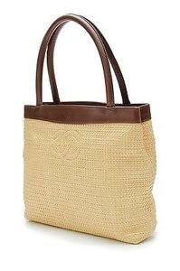Chanel Natural Straw Tote in Brown