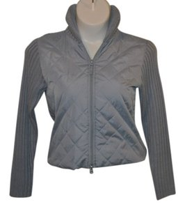 Real Comfort Ribbed Back / Collar / Arms Blue/Grey Jacket