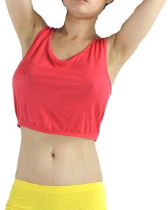 Exotic Wear Sexy Coral Shirt Crop Tank Spandex Stretches Yoga Dance Gym Camp Swim Tank Tops S M L