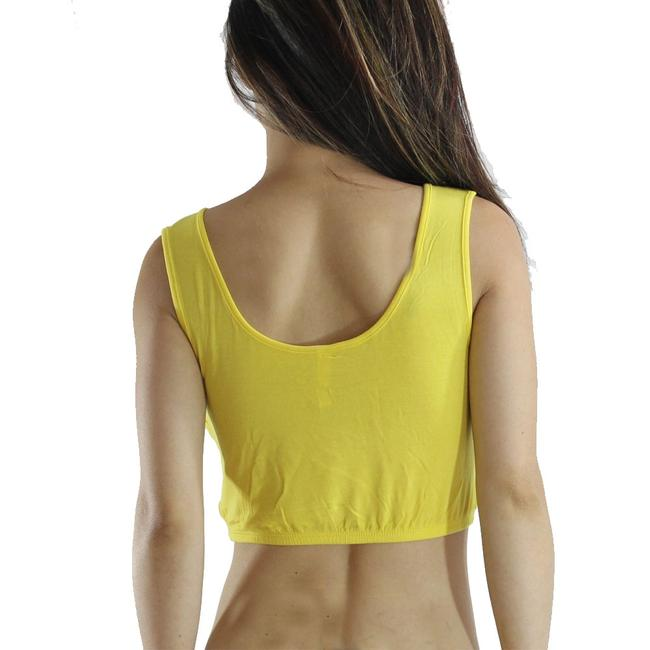 Exotic Wear Yellow Shirts Sexy Crop Tank Spandex Stretches Yoga Dance Gym Camp Swim Tank Top