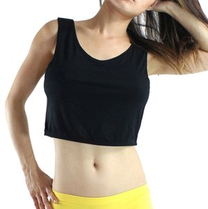 Exotic Wear Black Shirts Sexy Crop Tank Spandex Stretches Yoga Dance Gym Camp Swim Tank Top