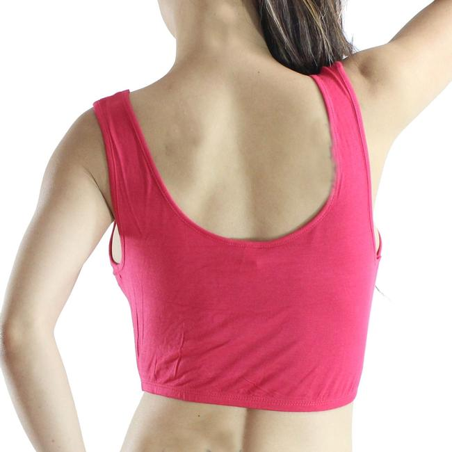 Exotic Wear Fuschia Shirt Sexy Crop Tank Spandex Stretches Yoga Dance Gym Camp Swim Tank Top Pink Tops