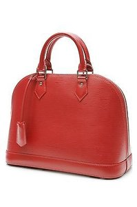 Louis Vuitton Epi Satchel in Carmine (red)