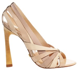 L.A.M.B. Summer Sandal Leather Nude Pumps